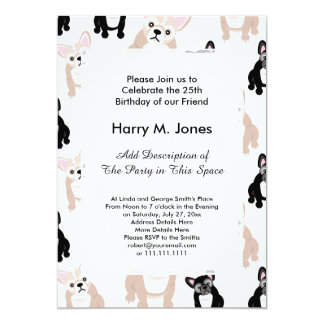 Custom French Bulldog Pattern Card