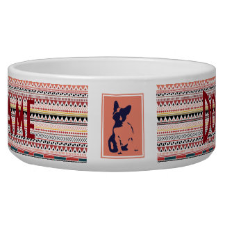 Custom French Bulldog Pet Bowl Color
