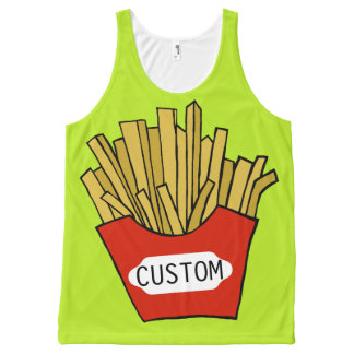 Custom french fries design tank top
