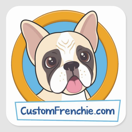 Custom Frenchie Logo Sticker