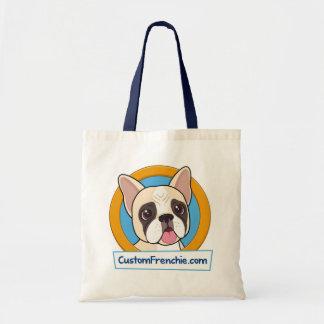 Custom Frenchie Logo Tote Bag