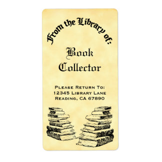 Custom From the Library of Vintage Books Labels