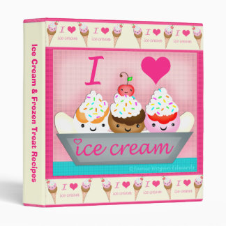 Custom Frozen Desserts Recipe / Photo Binder