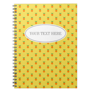 Custom fruit print food diary or recipe notebook