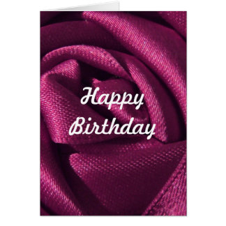 Custom Fuchsia Rose Birthday Card