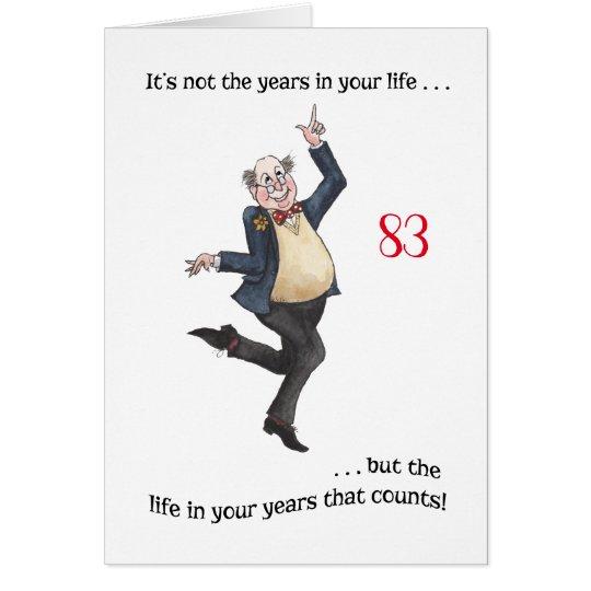 Custom Fun Age-specific Birthday Card for a Man