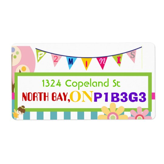 Custom Fun Childcare Address Label