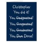 Custom Funny Graduation Congratulations Wishes BIG Card