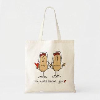 Custom Funny Lesbian Wedding Tote Bag