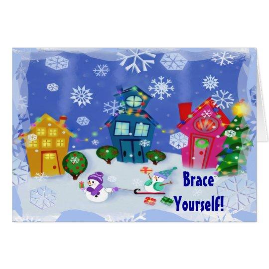 Custom Funny  Winter Scene Christmas Card