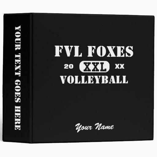 "Custom FVL Foxes Volleyball Binder 2"" Vinyl Binder"