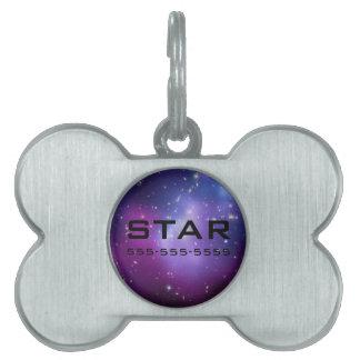 Custom Galaxy Cluster Pet Tag