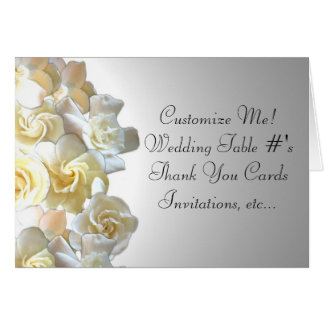 Custom gardenia flower notecards card