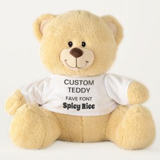 """Custom Giant 21"""" Teddy Bear Template SPICY RICE"""