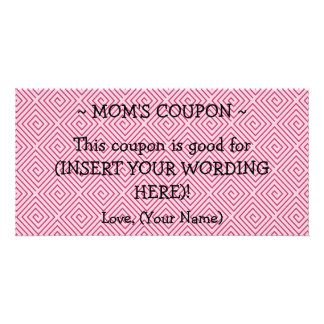 CUSTOM GIFT COUPON FOR MOM CARD