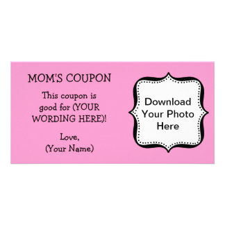CUSTOM GIFT COUPON FOR MOM CUSTOMIZED PHOTO CARD