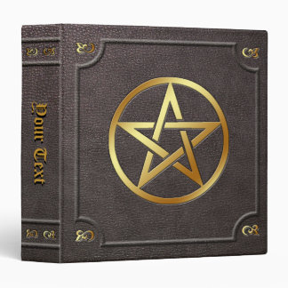 Custom Gilded Pentacle Book of Shadows Vinyl Binders