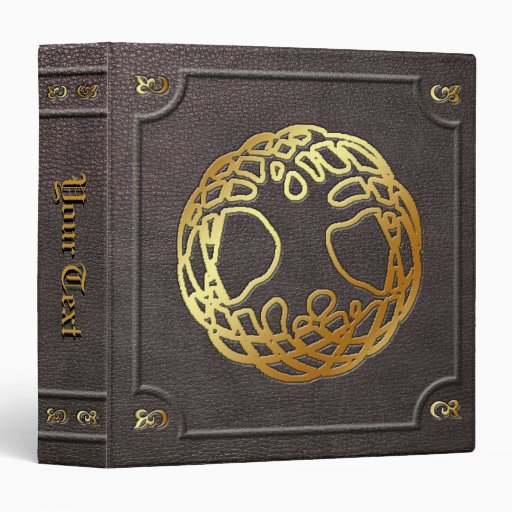 Custom Gilded World Tree Book of Shadows Binder