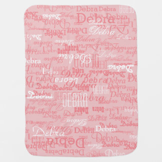 custom girl color names, personalized pink receiving blankets