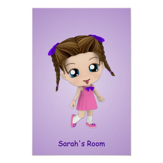 Custom Girls Room Chibi Poster