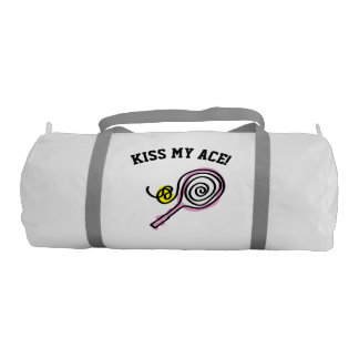 Custom girly duffle gym bag for lady tennis player