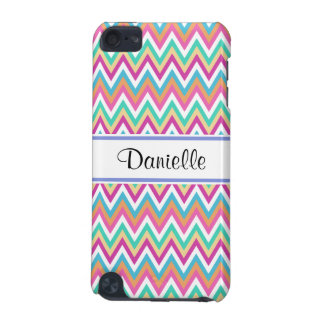 Custom Girly Pastels Chevron 5G iPod Touch Case