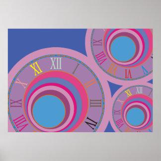 Custom girly pretty swirl circles tornado cute art poster
