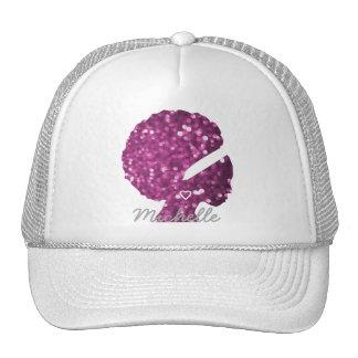 Custom Glitter Black Woman Trucker Hat