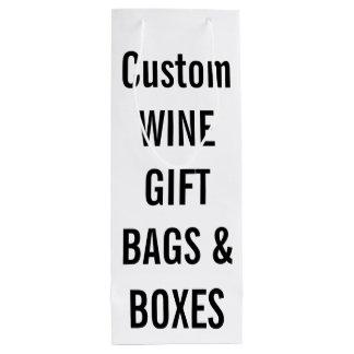 Custom GLOSSY Wine Gift Bag Blank Template