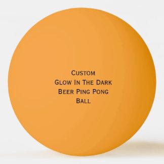 Custom Glow In The Dark Colors Beer Ping Pong Ball