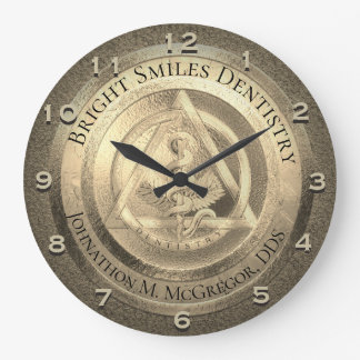 Custom Gold Dentist Clock