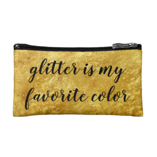 custom gold foil glamorous modern makeup makeup bag