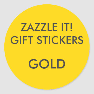 Custom GOLD ROUND Large Gift Stickers Blank