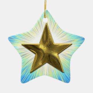 Custom Gold Star Ornament