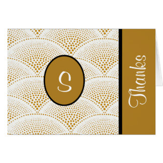 Custom Golden Designer Thank You Notes