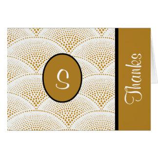 Custom Golden Designer Thank You Notes Note Card