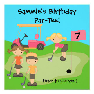 Custom Golf Outing Birthday Invitations