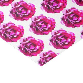 Custom Gorgeous Pink Camellia Rose Tissue Paper