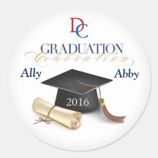 Custom Graduation Envelope Seals Round Sticker