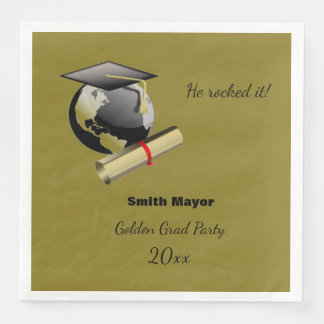 Custom Graduation Paper Napkins