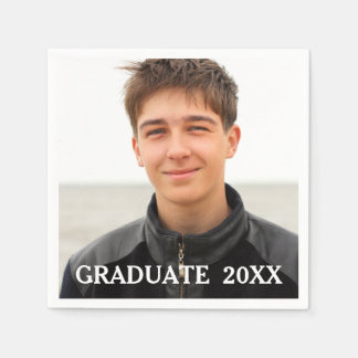 Custom Graduation Photo Party Paper Napkins