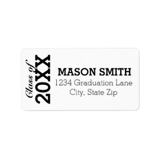 Custom Graduation Return Address Labels