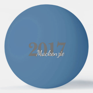 Custom Graduation | Script Year Simple Chic Name Ping Pong Ball