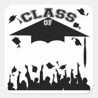 Custom Graduation Square Sticker
