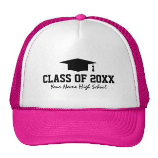 Custom graduation trucker hats for graduate party