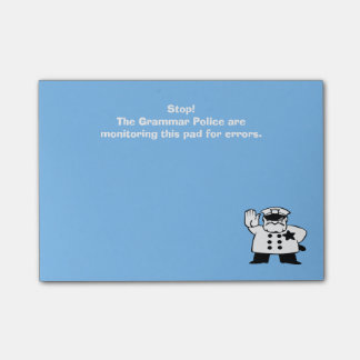 Custom Grammar Police Monitoring this Pad Post-it® Notes