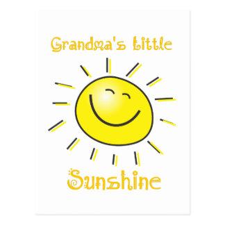 Custom Grandma's Little Sunshine Fun Sun Postcard