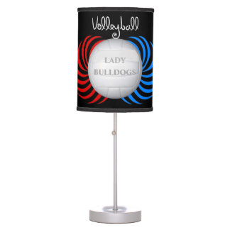Custom Graphic Lady Bulldogs Volleyball Table Lamp
