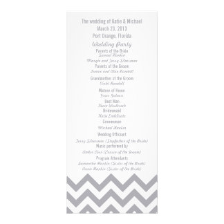 Custom Gray Chevron Wedding Programs