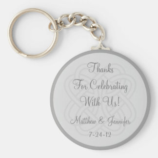 Custom Gray Keychain Wedding Favor Keepsake Gift